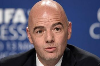 Gianni Infantino was elected president of football's world governing body in February, replacing the disgraced Sepp Blatter