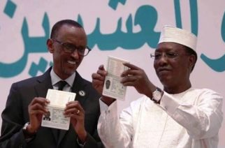 Rwanda's Paul Kagame and Chad's Idriss Derby were first recipients of African Union Passport