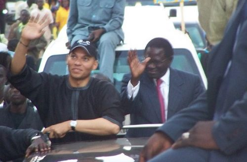 Karim Wade on a parade in 2009. Credit: Serigne Diagne.