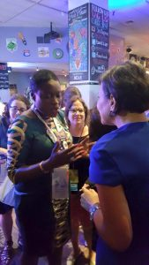 EW4H State Co-chair, Angelle Kwemo, with Secretary of Commerce, Penny Pritzker. At the Democratic Convention