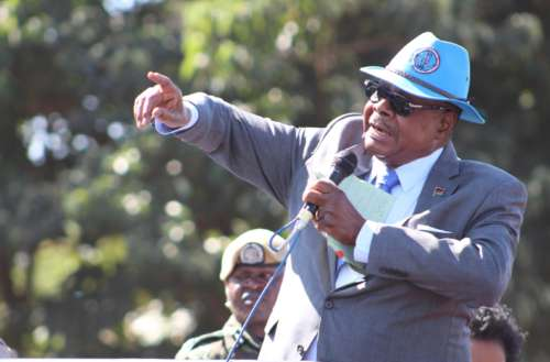 Incumbent President Mutharika is headed for a second term