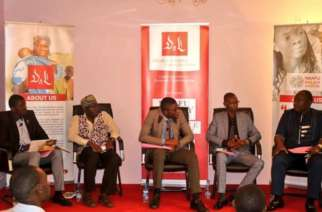 Panellists expounding on various issues on living together in peace