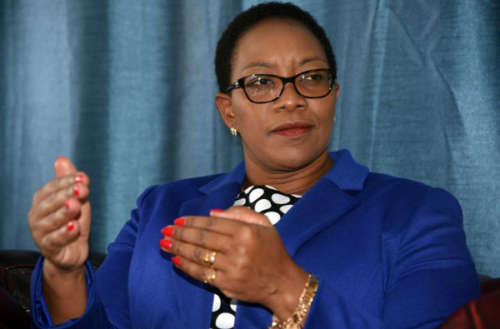Health Cabinet Secretary Sicily Kariuki during an interview at her office in Nairobi on November 9, 2018. PHOTO | EVANS HABIL | NATION MEDIA GROUP
