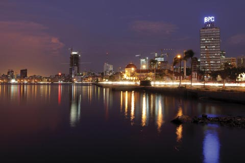 """Skyline of Luanda, Angola: Will Africa be """"the next global economic frontier""""?  Photograph: Reuters / Mike Hutchings"""