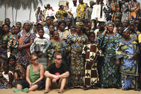 Visitors to a cultural festival in Benin: Many potential tourists are interested in experiencing African cultures, not just going on wildlife safaris.