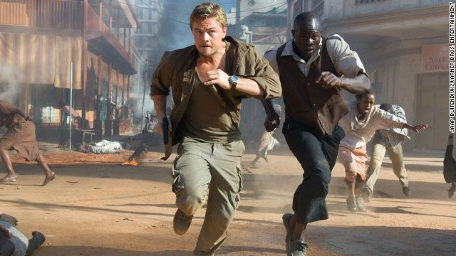 """Starring Leonardo DiCaprio and Djimon Hounsou, """"Blood Diamond"""" highlights the horrors related to the illegal trade of """"conflict"""" gems in Africa. Set in wartime Sierra Leone during the late 1990s, the film depicts an ex-mercenary, played by DiCaprio, trying to recover a rare pink stone from a local fisherman whom rebels have forced to dig in the diamond pits."""