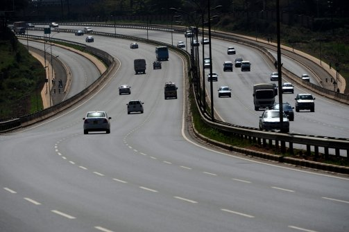 "Vehicles drive along the newly constructed Nairobi-Thika Super Highway by Chinese companies in Nairobi, capital of Kenya, on Sept. 20, 2012. Several major roads within Nairobi have been constructed by Chinese companies this year. The roads are referred to as ""China Roads"" by the local people. (Ding Haitao/Xinhua, via Landov )"