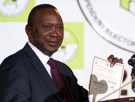 Uhuru Kenyatta is the son of Kenya's first independence leader