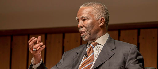 """""""An African Renaissance is under way,""""-former South African President Thabo Mbeki"""