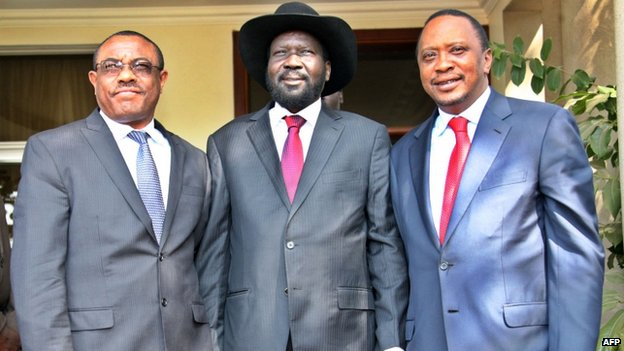 The leaders of Ethiopia, South Sudan and Kenya met in Juba on Thursday