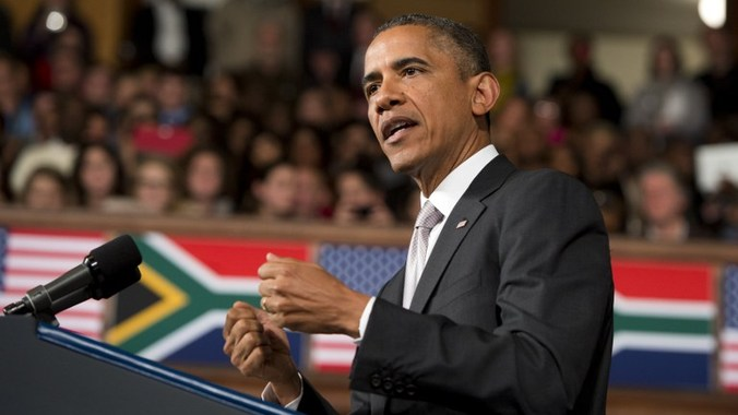 "Obama to young Africans ""make Mandela's life work your own."""