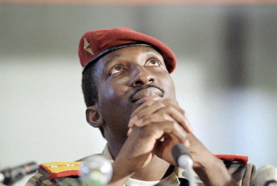 Former president of Burkina Faso, Captain Thomas (AFP Photo/-)
