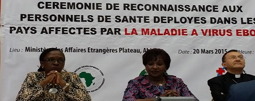 Ebola doctors come home: AfDB joins ECOWAS and Government of Côte d'Ivoire in welcome ceremony