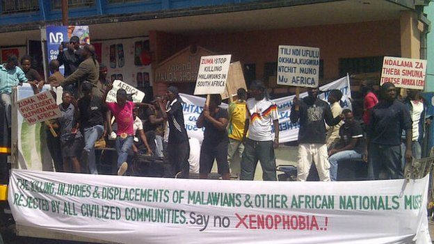 Malawians showed their anger at a demonstration in Lilongwe
