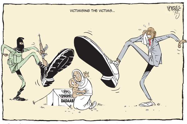 EDITORIAL CARTOON: The anti #refugees sentiments are fuelled by ignorance #Dadaab @UNHCR_Kenya via @ndula_victor . The Star, Kenya