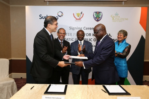 he signatories are Mr Pang Yee Ean, CEO, Surbana International Consultants and Mr Robert Luzolanu Mavema, Provincial Minister of the Plan, Budget, Public Works and Infrastrucure, Democratic Republic of the Congo. Witnesses are Mr Masagos Zulkifli, Minister in PMO and Second Minister for Home Affairs and Foreign Affairs, His Excellency Mr Andre Kimbuta, Governor of Kinshasa and Ms Elim Chew, Chairperson of Greater Kingdom Ltd.