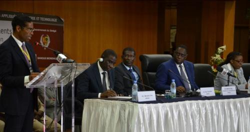 Dr Álvaro Sobrinho announces the Africa Business Champions for Science in Dakar, Senegal, on the invitation of His Excellency President Macky Sall