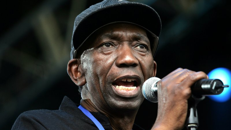 Thomas Mapfumo performs on stage during Live 8, Africa Calling, in 2005. Matt Cardy/Getty Images