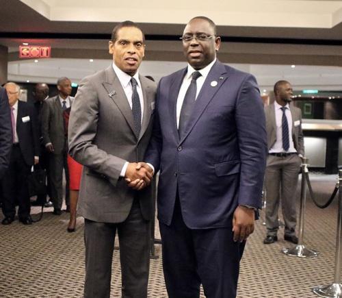 Dr Álvaro Sobrinho and HE Macky Sall, President of the Republic of Senegal