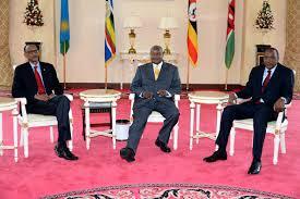 3 amigos: L-R: Rwanda's Paul Kagame, Uganda's Yoweri Museveni and Kenya's Uhuru Kenyatta.Photo credit Observer.UG
