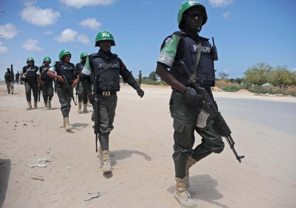 African Union forces have been supporting Somali troops battling to stem a tide of violence by Al Shebab militants (AFP Photo/Mohamed Abdiwahab)