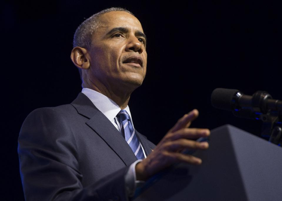 More than 50 African and global human rights groups called on US President Barack Obama, seen in Philadelphia, Pennsylvania on July 14, 2015, to publicly meet democracy activists when he visits Ethiopia and Kenya later this month (AFP Photo/Saul Loeb)