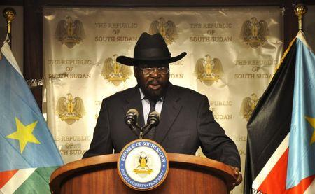 South Sudan's President Salva Kiir addresses a news conference at the Presidential palace in Juba, September 15, 2015. REUTERS/Jok Solomun