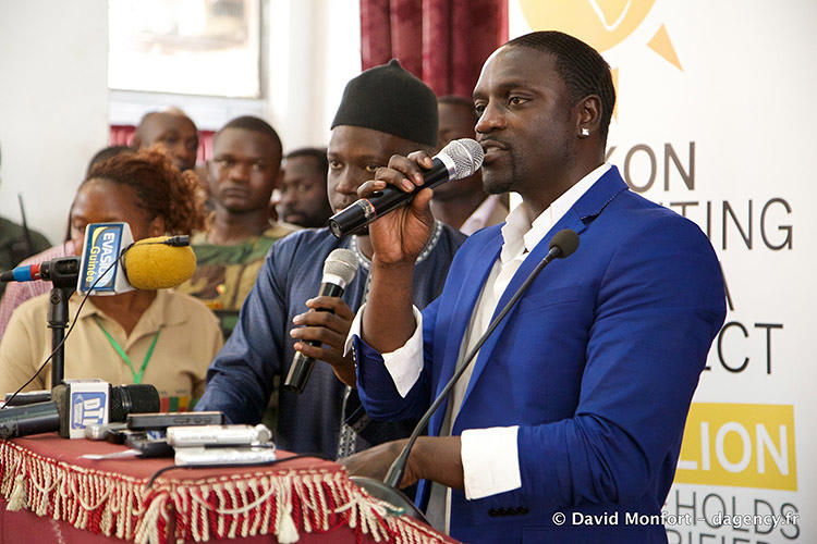 Akon says his goal of bringing electricity to 600 million people across Africa through his Lighting Africa project is on track. Photo: David Monfort