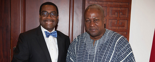 AfDB President discusses role of agriculture in Africa's transformation with Ghanaian Head of State