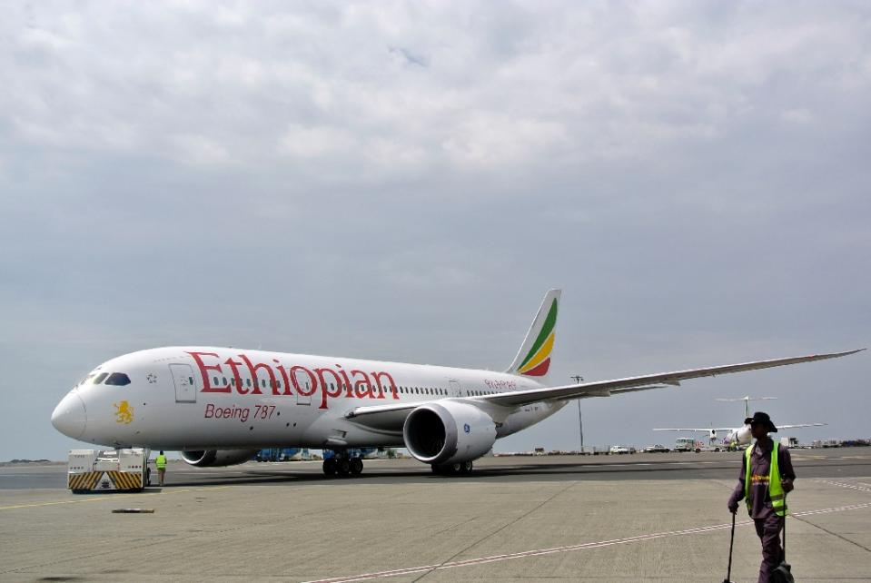 Ethiopian Airlines says it is is training Chinese crews for its China-bound flights because 90 percent of passengers flying to China don't speak English (AFP Photo/Jenny Vaughan)