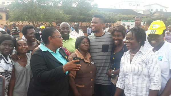 Samuel Eto'o brings health promotion messages to West Africa