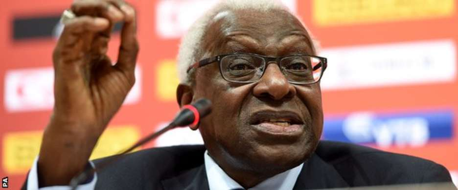 Lamine Diack stood down as IAAF president in August