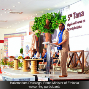 Hailemariam Desalegn Prime Minister of Ethiopia-welcoming participants