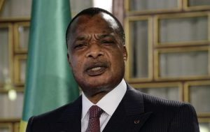 Congo Republic President Denis Sassou Nguesso speaks during a news conference after his meeting with Tunisia's President Beji Caid Essebsi at Carthage Palace in Tunis January 22, 2015. REUTERS/Anis Mili