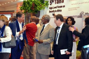 Kofi Annan middle and other African leaders at the Tana Forum