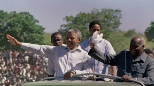 A month after his release from jail in 1990, Nelson Mandela visited Zambia to thank the country for its help in the fight against apartheid