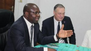 Tombi A Roko Sidiki (right) has been president of the Cameroon Football Federation since September 2015