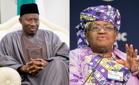 Photo: allafrica.com Former president Goodluck Jonathan and former finance minister, Ngozi Okonjo-Iweala.