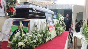 Mourners attend Patrick Ekeng's funeral in Yaounde