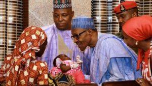 The rescued Chibok girl met President Buhari