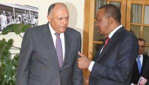 file picture:Kenyan President Uhuru Kenyatta with a visiting Egyptian Official