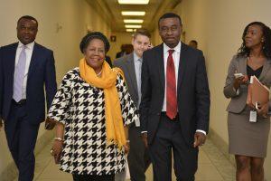 Okey Mbonu with Congress Woman Sheila Jackson Lee