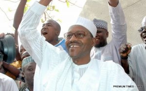 Buhari in celebration mood.Nigerians are still waiting for the campaign promises to be fulfilled.