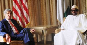 U.S Secretary of State John Kerry and Nigerian President Buhari in a 2015 file picture