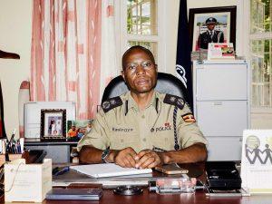 Kasingye, Uganda's Interpol chief, in his office. Photographer: Michele Sibiloni for Bloomberg Businessweek