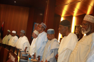 President Buhari with some past Nigerian leaders