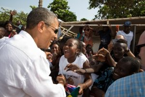 President Obama Greets Residents of Gorée Island. (Photo credit: whitehouse.gov)