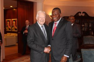 Jonathan with Former U.S President Jimmy Carter