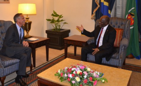 Photo: The Citizen US Ambassador to Tanzania Mark Childress, who held talks with President John Magufuli at State House