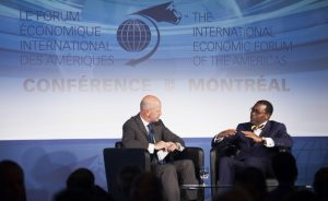 Photo: AfDB African Development Bank Group President Akinwumi Adesina brought Africa to the Americas, and the AfDB to Canada, as the co-chair of the 22nd International Economic Forum of the Americas - Conference of Montreal.